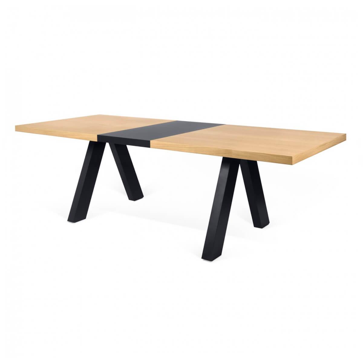 Mesa de comedor extensible de roble. MAXIMUS - Artikalia