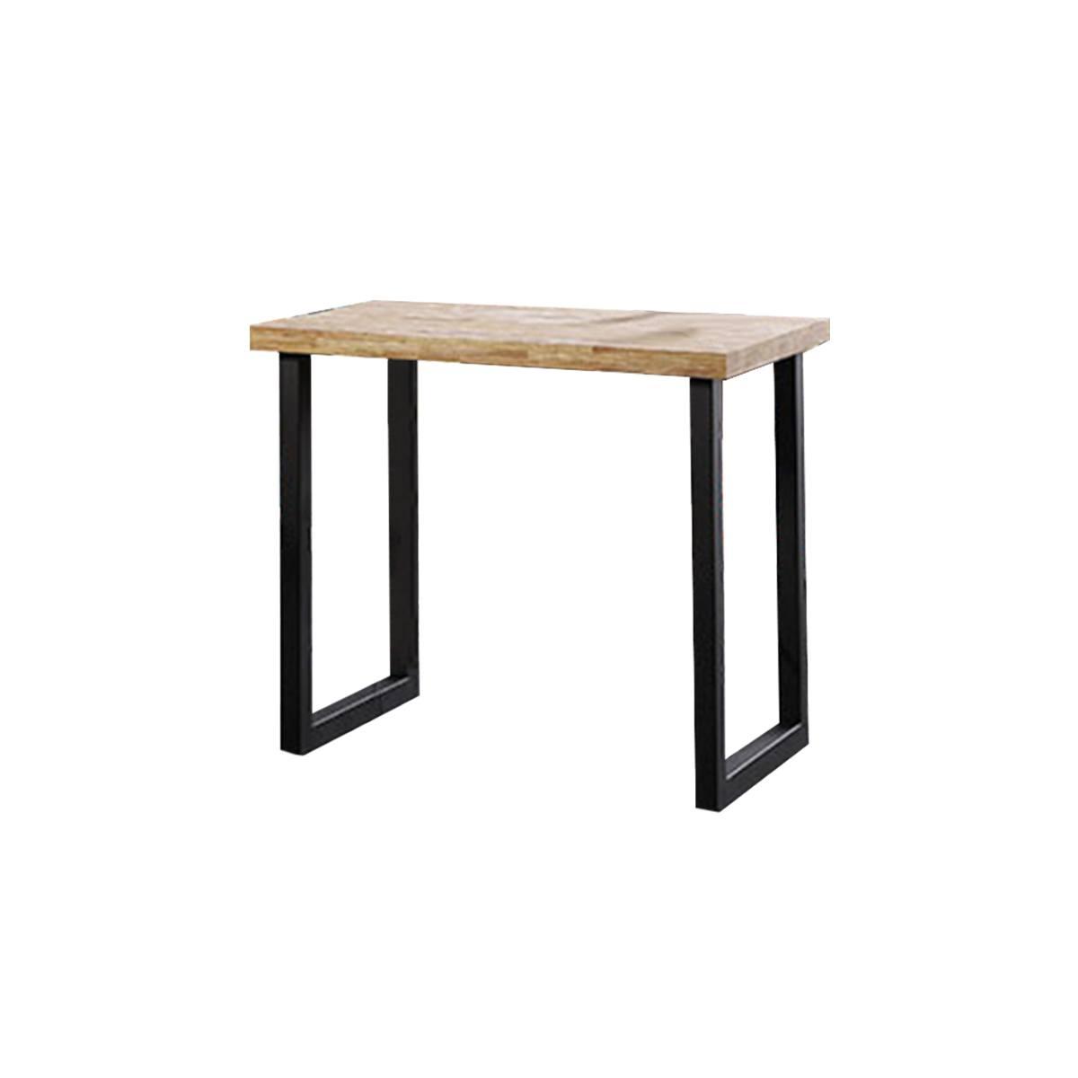 Mesa alta comedor bicolor negro/madera natural 120cm