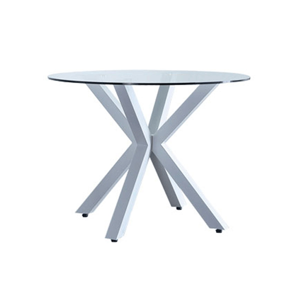 Mesa redonda de cristal templado de comedor diseño ...