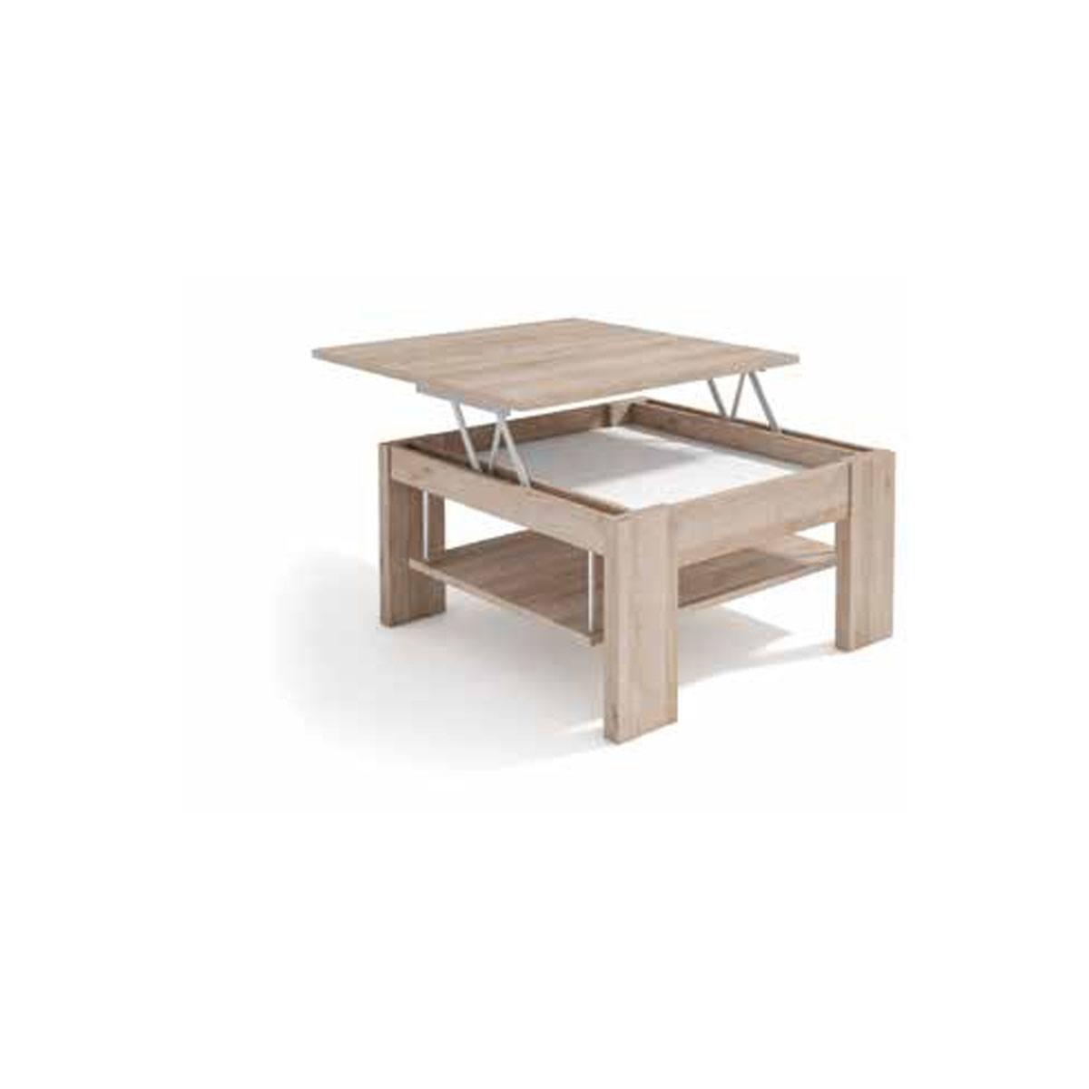 Mesa de centro elevable cuadrada 80cm. Comprar mesas elevables