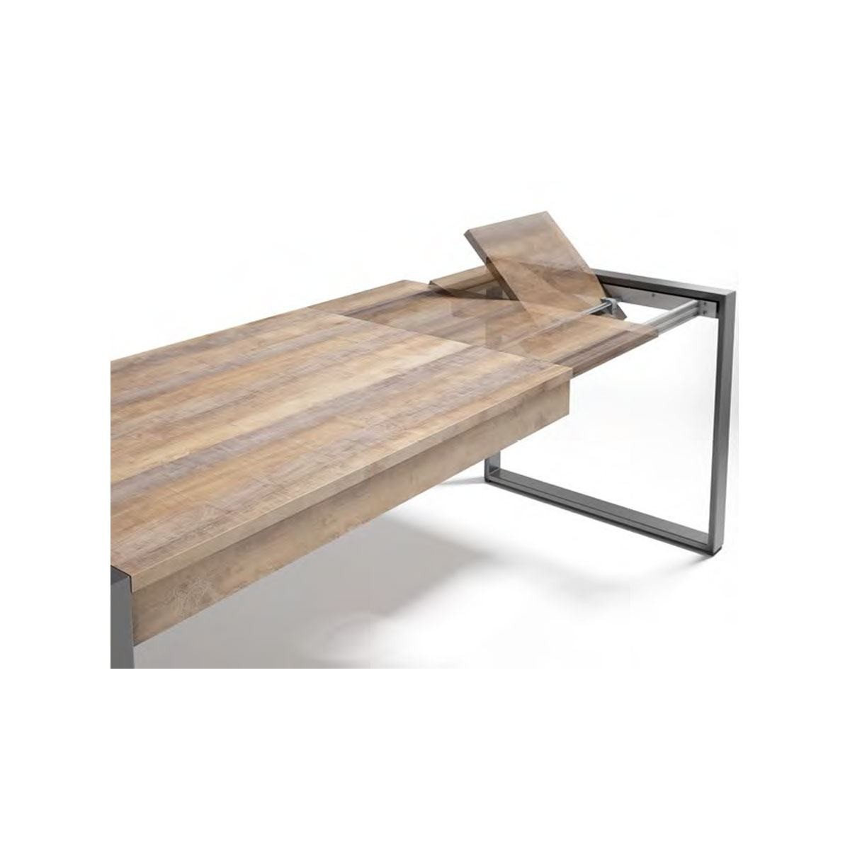 Mesa de comedor extensible rectangular moderna. Artikalia
