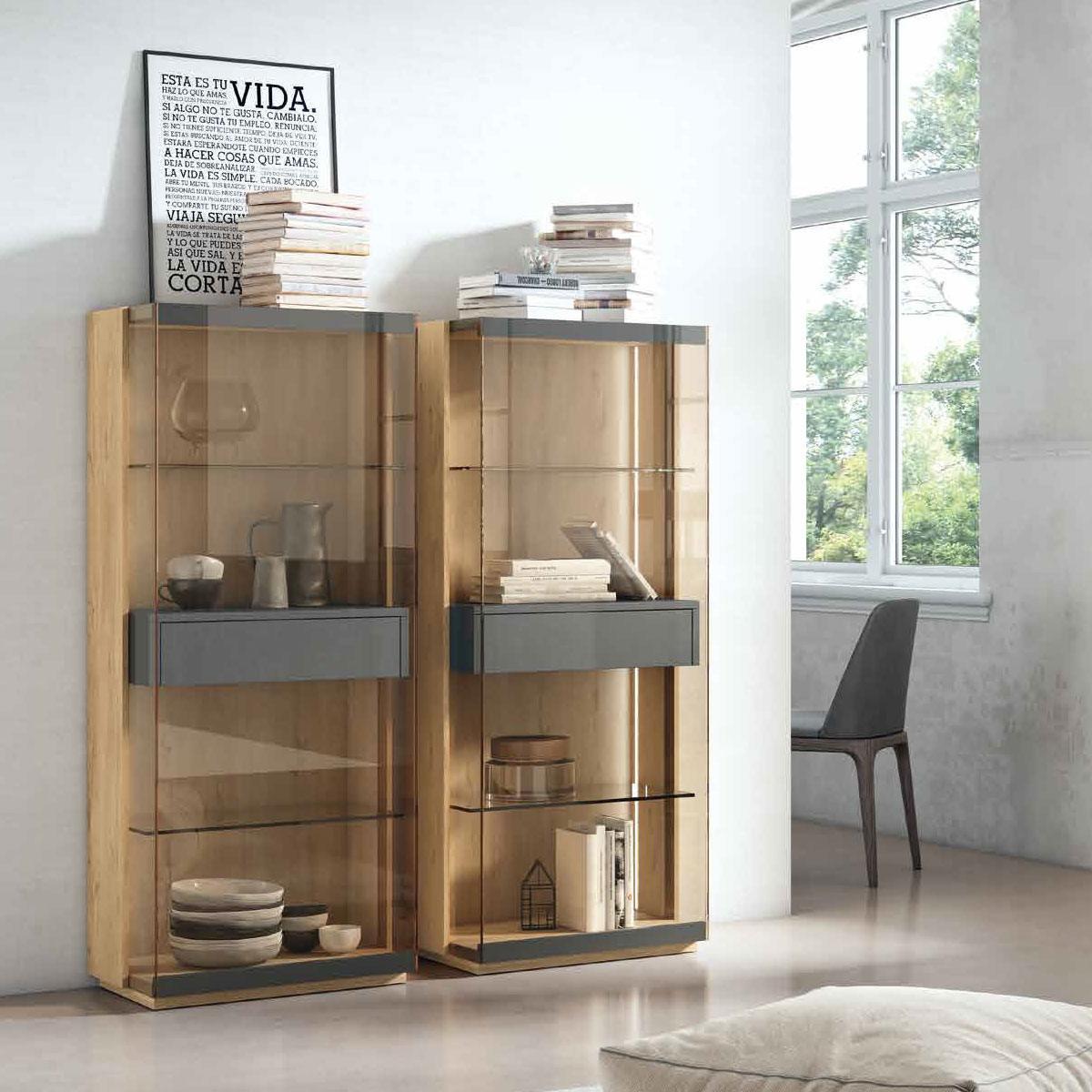 Vitrina cristal con capacidad 1 puertas. Comprar Vitrinas ...