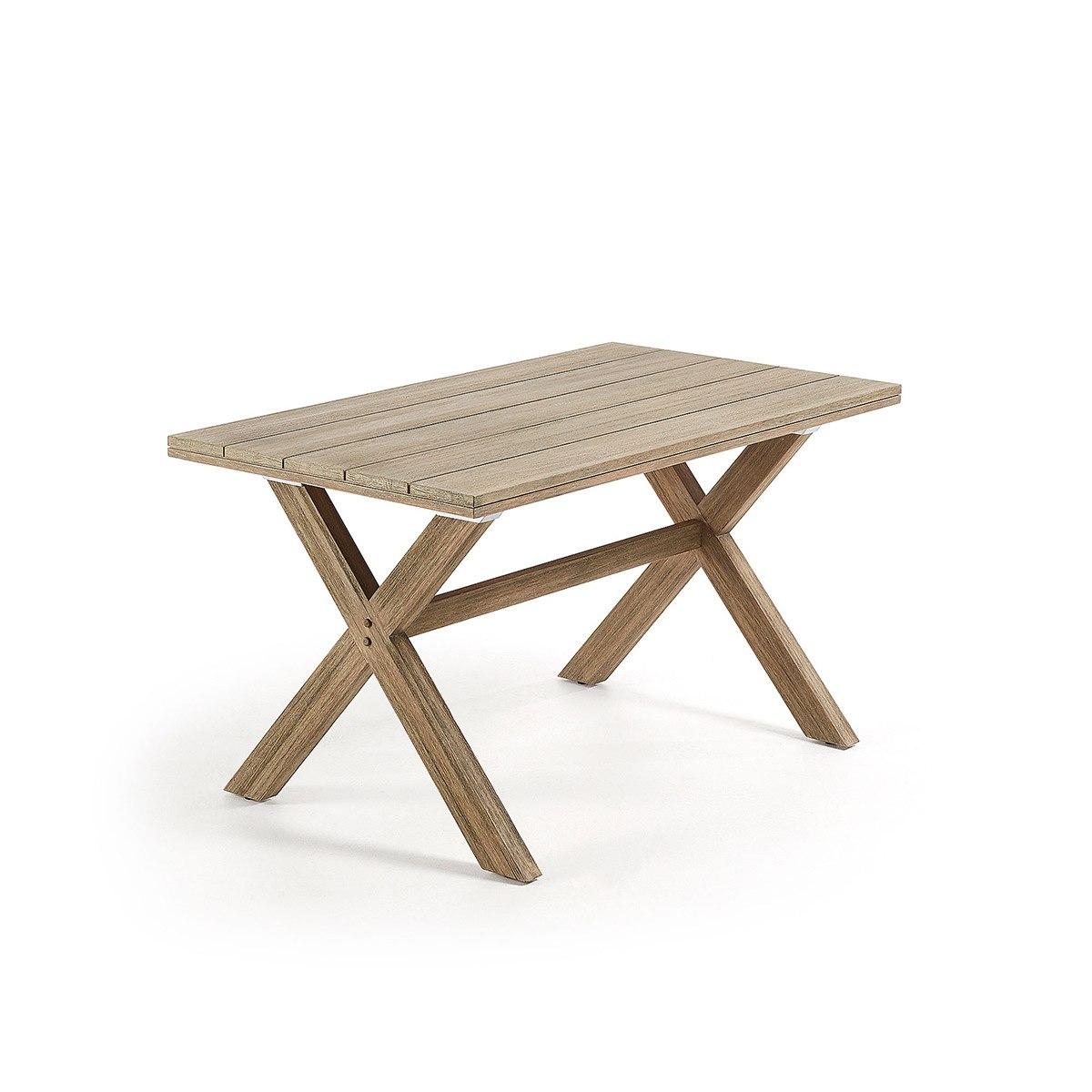 Mesa de madera maciza de eucalipto - Artikalia - Mesas de madera
