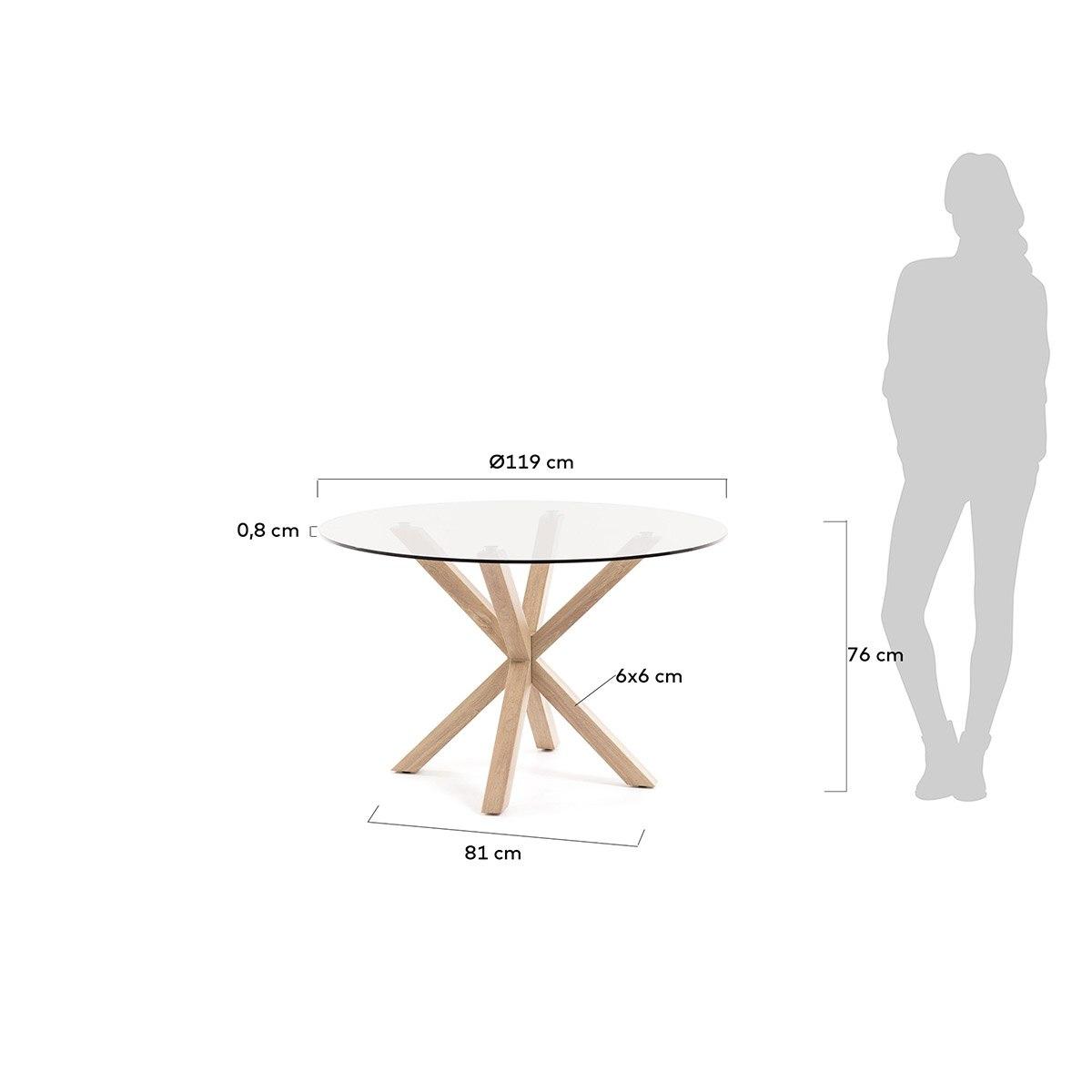 Mesa comedor redonda cristal - Artikalia - Mesas de comedor