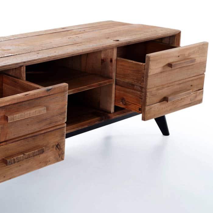 Mueble TV pino reciclado - Artikalia - Muebles de diseño