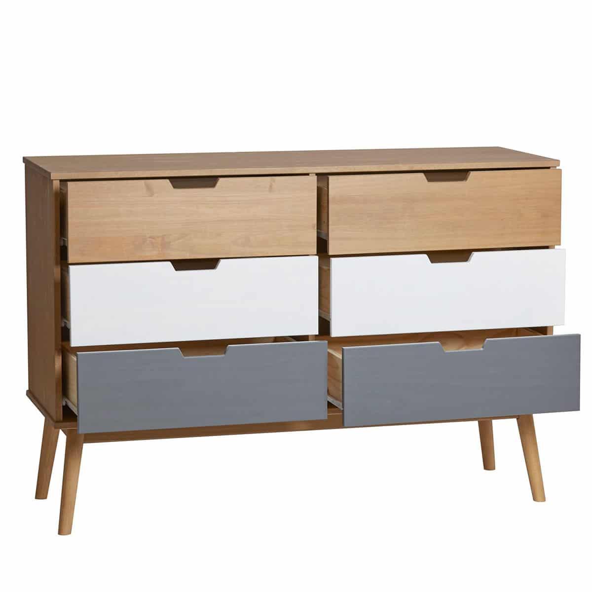 Comoda gris blanco pino - Artikalia - Muebles de diseño