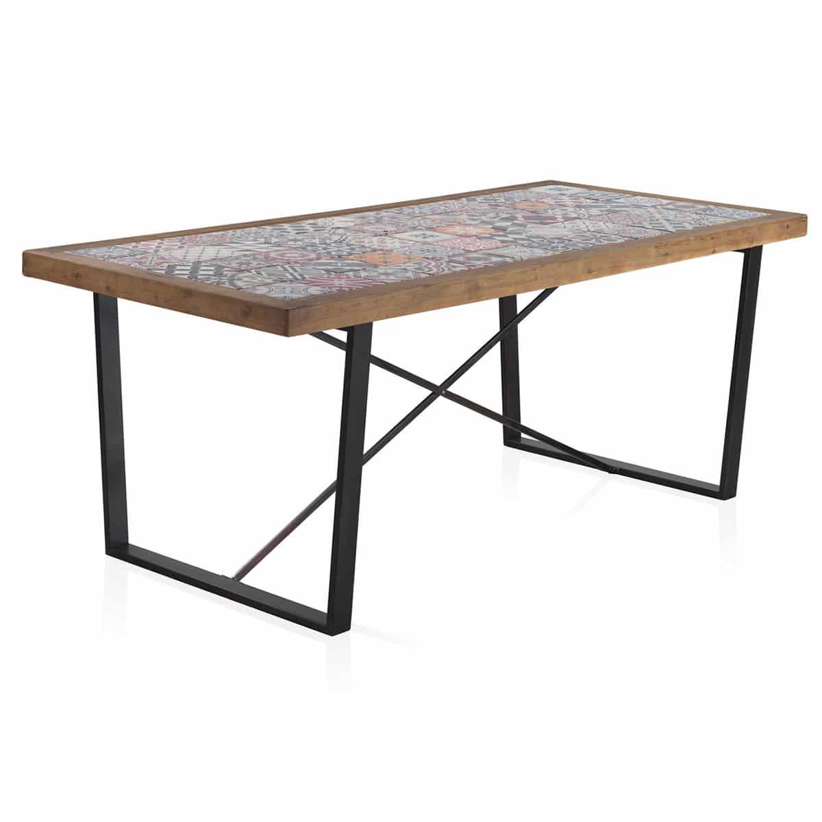 Mesa comedor tapa mosaico - Artikalia - Muebles de diseño